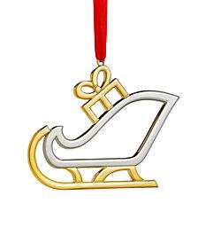 Nambé Santa's Sleigh Ornament