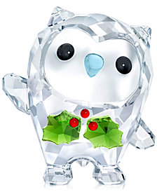 Swarovski Annual 2018 Edition Hoot Happy Holidays Figurine