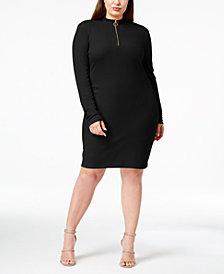Planet Gold Trendy Plus Size Mock-Neck Dress