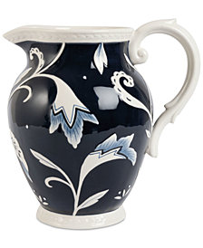 Fitz and Floyd Bristol Floral-Print Pitcher
