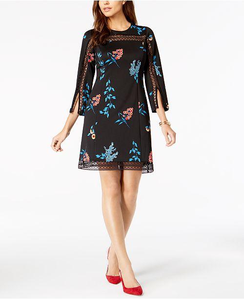 49c5186fb7931 Alfani Petite Illusion-Lace Shift Dress, Created for Macy's ...