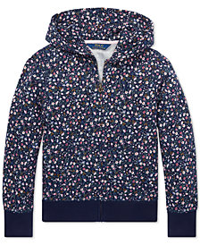 Polo Ralph Lauren Big Girls Floral Cotton Terry Hoodie