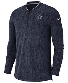 Nike Men's Dallas Cowboys Coaches Quarter-Zip Pullover
