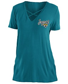 5th & Ocean Women's Jacksonville Jaguars Cross V T-Shirt