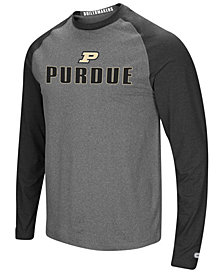Colosseum Men's Purdue Boilermakers Social Skills Long Sleeve Raglan Top