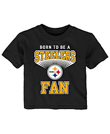 Outerstuff Pittsburgh Steelers Born Fan T-Shirt, Infants (12-24 Months)