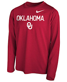 Nike Oklahoma Sooners Legend Long Sleeve T-Shirt, Little Boys (4-7)
