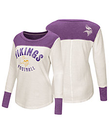 Touch by Alyssa Milano Women's Minnesota Vikings Thermal Long Sleeve T-Shirt