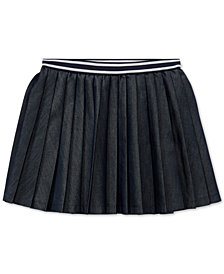 Polo Ralph Lauren Little Girls Pleated Twill Skirt