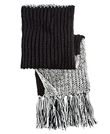 Steve Madden Men's Reversible Fringed Scarf