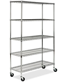 Echo 5-Tier Heavy Duty Chrome Wire Shelf, Quick Ship
