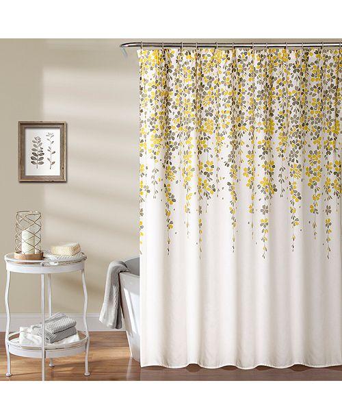 "Lush Decor Weeping Flower 72""x 72"" Shower Curtain"