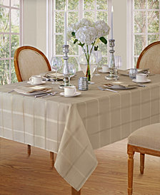 Elrene Elegance Plaid Beige Table Linen Collection