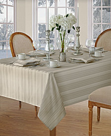 Elrene Denley Stripe Gray Table Linen Collection