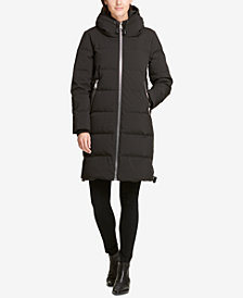 DKNY Hooded Cinch Bottom Cocoon Puffer Coat, Created for Macy's