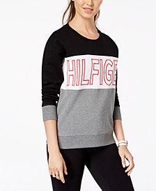 Tommy Hilfiger Sport Embroidered Logo Colorblock Sweatshirt