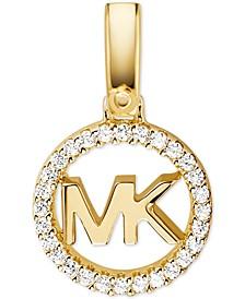 Women's Custom Kors Sterling Silver Logo Charm