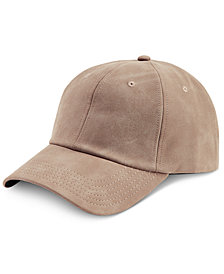 I.N.C. Men's Faux Suede Cap, Created for Macy's