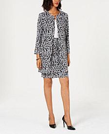 Alfani Petite Jacquard A-Line Jacket, Created for Macy's