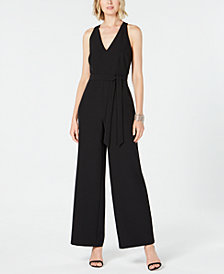 I.N.C. Petite Wide-Leg Cutout Back Jumpsuit, Created for Macy's