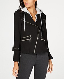 INC Hooded Moto Jacket, Created for Macy's