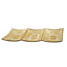 Gold Wave 3-Section Serving Tray