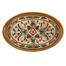 Gemstone Sand 18 Inch Oval Tray