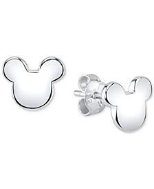 Mickey Mouse Stud Earrings in Sterling Silver for Unwritten