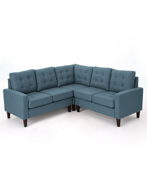 Fantastic Noble House Mitchell 3 Pc Sectional Sofa Set Quick Ship Pabps2019 Chair Design Images Pabps2019Com