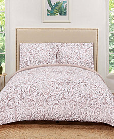 Truly Soft Watercolor Paisley Quilt Set Collection