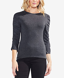 Vince Camuto Ruched-Sleeve Top
