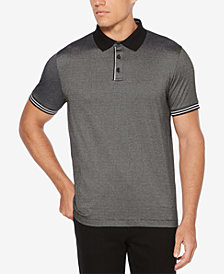 Perry Ellis Men's Stripe Under Collar Polo