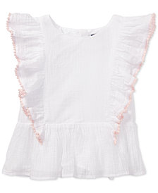 Polo Ralph Lauren Ruffled Cotton Top, Toddler Girls