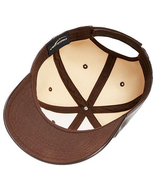 INC International Concepts I.N.C. Men s Faux-Leather Baseball Cap ... d72c0df576fb