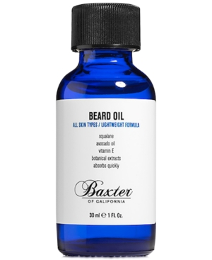 Nourishing oil for facial hair and skin.