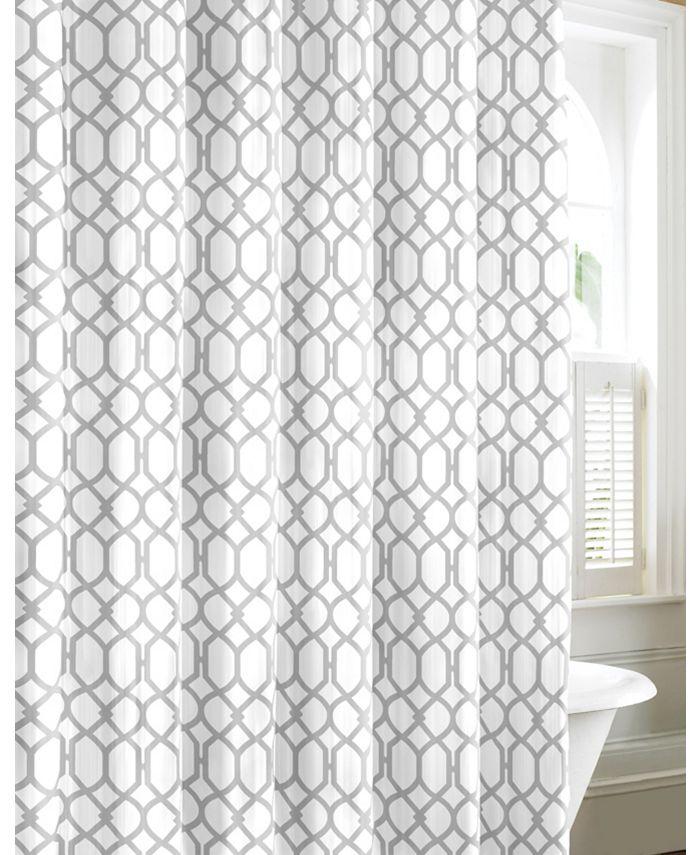 Tommy Bahama Home - Shoretown Trellis Pelican Grey Shower Curtain