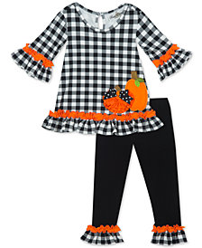 Rare Editions Little Girls 2-Pc. Pumpkin Tunic & Leggings Set