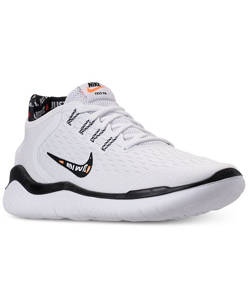 393a97f6c03 ... Nike Women s Free RN 2018 Just Do It Running Sneakers from Finish ...