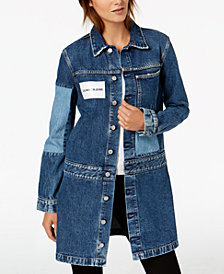 Calvin Klein Jeans Colorblocked Extended-Length Trucker Jacket