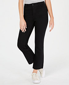 Dollhouse Juniors' Cropped Raw-Hem Jeans