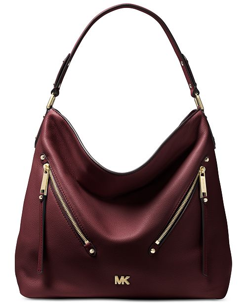 951d9529124f Michael Kors Evie Pebble Leather Hobo   Reviews - Handbags ...