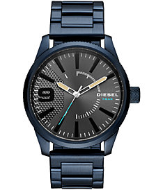 Diesel Men's Rasp NSBB Blue Stainless Steel Bracelet Watch 46mm