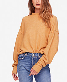 Free People Break Away Drop-Shoulder Mock-Neck Sweater
