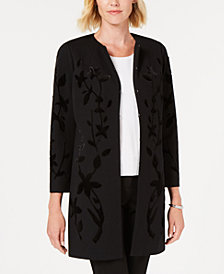Alfani Velvet Flocked Jacket, Created for Macy's