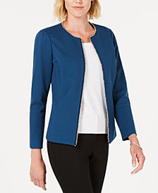 Alfani Embellished-Trim Jacket, Created for Macy's