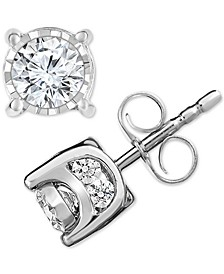 Diamond Stud Earrings (3/4 ct. t.w.) in 14k White Gold, Rose Gold or Gold