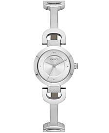 Women's City Link Stainless Steel Half-Bangle Bracelet Watch 24mm, Created for Macy's