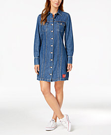 Calvin Klein Jeans Long-Sleeve Cotton Denim Dress