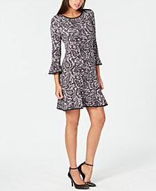 MICHAEL Michael Kors Paisley-Print Flounce Dress