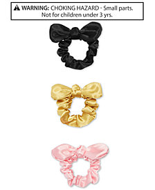 On the Verge Little & Big Girls 3-Pk. Satin Tie-Bow Scrunchies Set